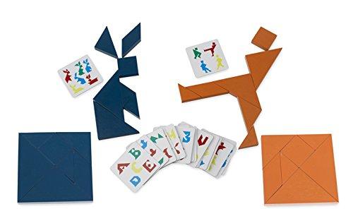 Aquamarine Games - Tangram doble en madera, juego de habilidad (Compudid CPES05)