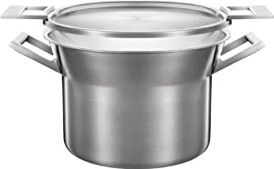 Castey 22 cm/ 4 Litre 3-Ply Stainless Steel Stock Pot with Lid