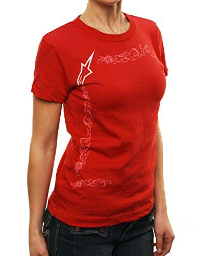 "Alpinestars Women's Astars ""Script BBY Tee"" Graphic T-Shirt Red-XL"