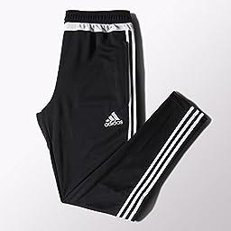 adidas Performance Men\'s Tiro Training Pant, X-Small, Black/White/Black