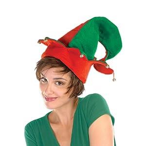 Felt Elf Hat w/Bells Party Accessory (1 count) (1/Pkg)