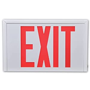 Cooper Lighting Sure-Lites SLX7 LED Commercial Steel Exit, White, Universal Face, Red and Green Letters, Self-Powered at Sears.com