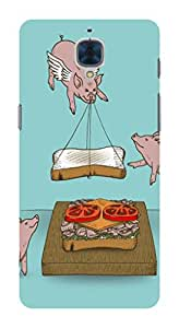 Koveru Back Cover Case for OnePlus Three - Swine Pig