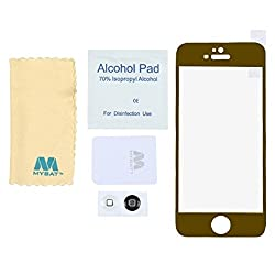 Mybat 3696 Tempered Glass Screen Protector/Gold iPhone 5C,5S&5