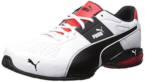 PUMA Men's Cell Surin 2 FM Cross-Trainer Shoe, Puma White/Puma Black, 9.5 M US