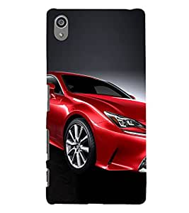 Luxury Red Car 3D Hard Polycarbonate Designer Back Case Cover for Sony Xperia Z5 Premium (5.5 Inches) :: Sony Xperia Z5 Premium Dual