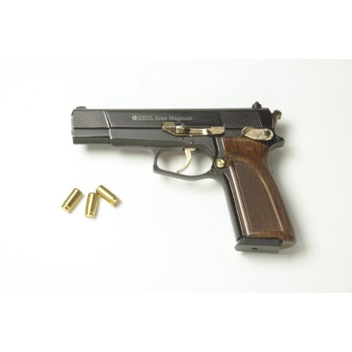 Aras Magnum HP 9mm Blank Firing Starter Pistol - Black/Gold