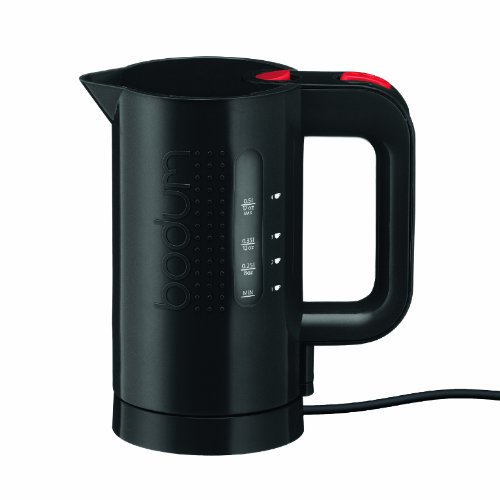 Bodum 11451-01US 17-Ounce Electric Water Kettle, Black (Travel Hot Water Kettle compare prices)