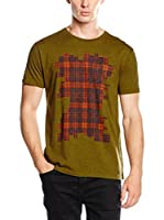 Marc by Marc Jacobs Camiseta Manga Corta Bromley Plaid (Oliva)