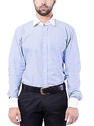 Tag & Trend Mens Slim Fit Formal Wear CORNFLOWER BLUE Shirt by TRADIX INNOVATIONS (Size- 44 XXL)