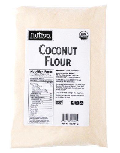Nutiva Organic Flour, Coconut, 1 Pound