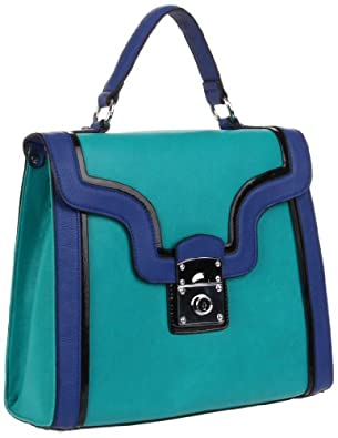 Melie Bianco C1736 Keira Tote,Teal,One Size