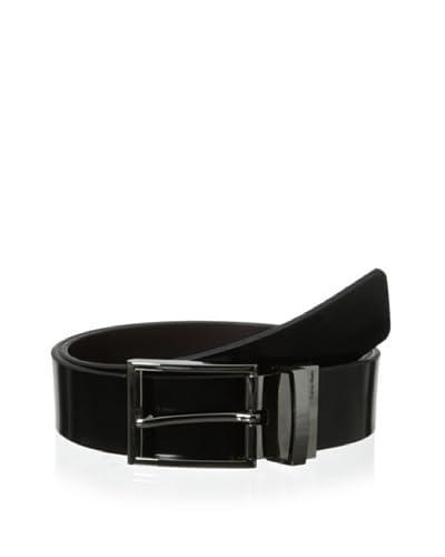 Calvin Klein Men's Reversible Gunmetal Dress Belt