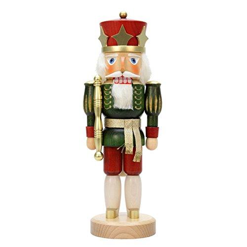 """32-544 – Christian Ulbricht Nutcracker – Red King Glazed – 15″""""H x 5.5″""""W x 4.5″""""D"""