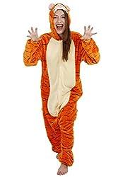 Blu Apparel® Mens Ladies Unisex Animal Onesie Fancy Dress Pyjamas Sleepwear Lounge