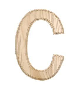 Amazoncom darice 0992 c decorative wood letter c 6 inch for Darice 7 fancy wood letters
