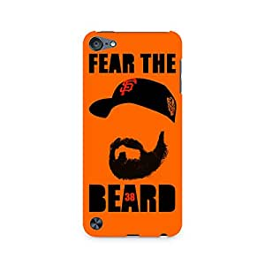 Motivatebox- Fear the Beard Bud Premium Printed Case For Apple iPod Touch 6 -Matte Polycarbonate 3D Hard case Mobile Cell Phone Protective BACK CASE COVER. Hard Shockproof Scratch-