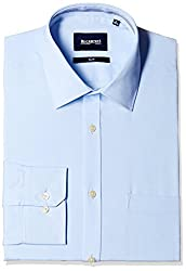 Blackberrys Men's Formal Shirt (8907196534505_MSDOD24ABEN08BPP_44_Air Blue)
