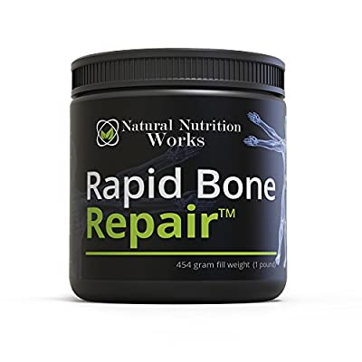 Rapid Bone RepairTM- Natural Calcium & Mineral Bone Meal Powder Complex w/Magnesium, Vitamins K2, D3, B6, Amino Acids, Chitosan, Fulvic Acid, Collagen, Silica & more to dramatically speed up Recovery