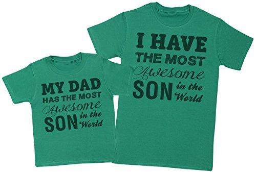 Awesome-Son-Ensemble-Pre-enfants-Cadeau-Hommes-T-shirt-et-enfants-T-shirt