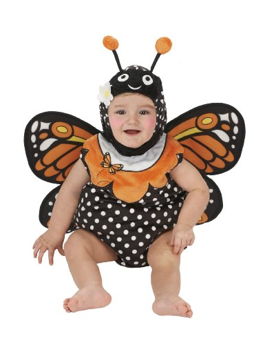 Just Pretend Kids Infant Romper, 0-6 Months, Monarch Butterfly image