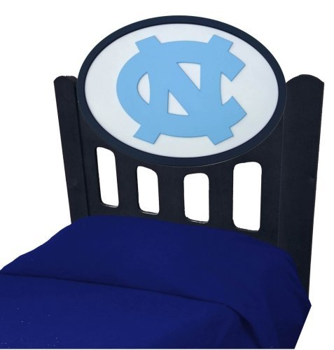 Cheap North Carolina Tarheels UNC Kids Wooden Twin Headboard With Logo (C0526B-North Carolina)