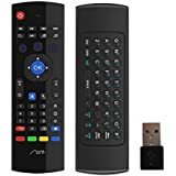Aerb 2.4G Mini Wireless Keyboard Mouse Multifunctional W Infrared Remote Learning & [3-Gyro + 3-Gsensor] Air Control for Google Android Smart TV Box G Box IPTV HTPC Mini PC Windows iOS MAC Linux PS3 Xbox 360