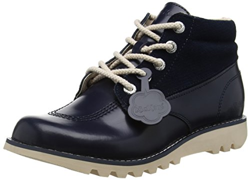 KickersKICK HI SIDE LTHR DK BLUE - Stivaletti donna , Blu (Blu (Dark Blue)), 42