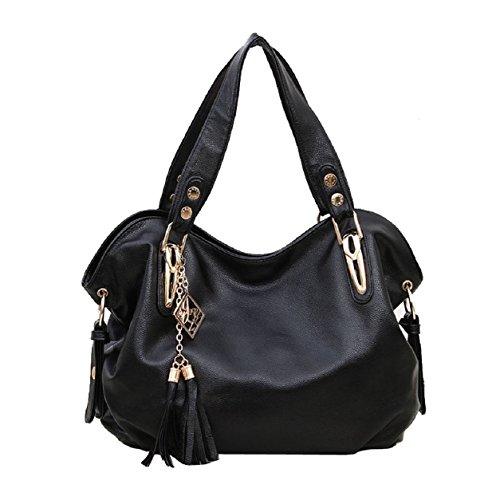 Atdoshop Luxury Ladies Real Leather Shoulder Bag Satchel Cross Body Tote Handbag
