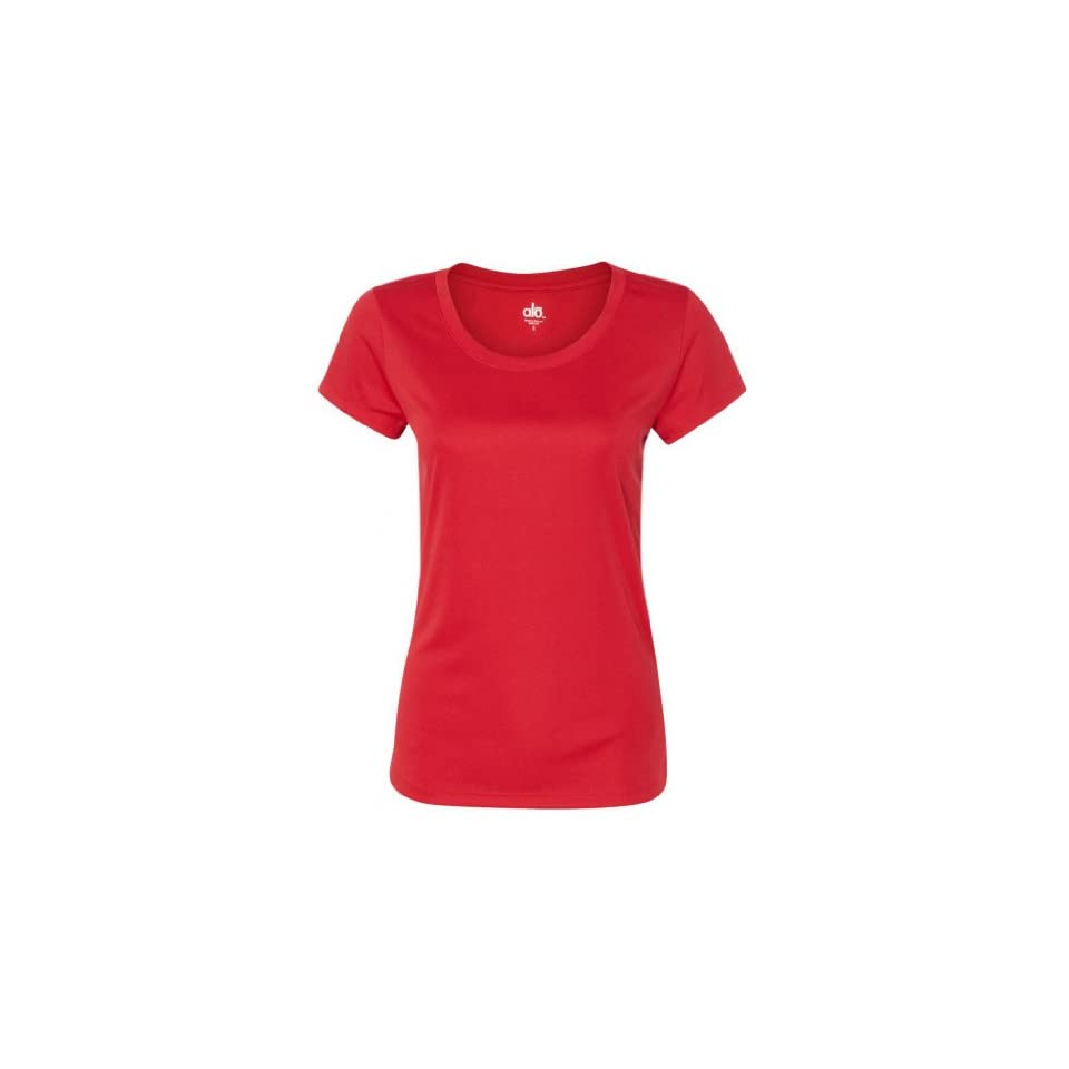 Yoga Clothing For You Womens Yoga Moisture Wicking Short Sleeve T Shirt, Small Scarlet Red