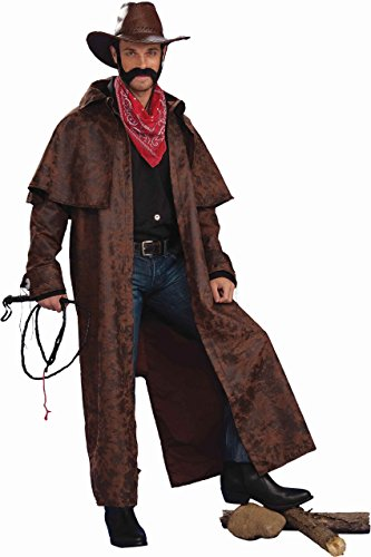 Forum Novelties Men`s Texas Cowboy Duster Coat Adult Costume, Brown, Standard