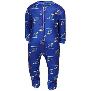 Buy Kansas Jayhawks NCAA Infant Footed Sleeper Creeper by Genuine Stuff