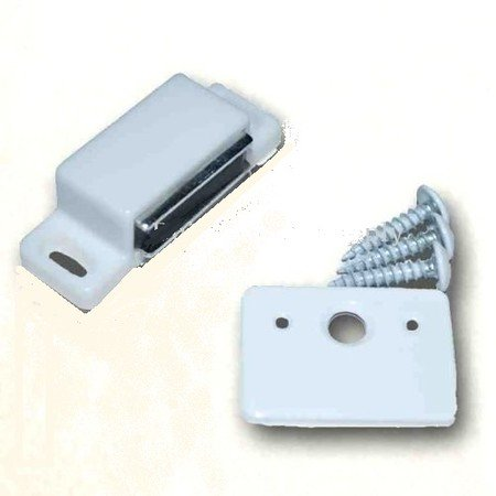 Standard Shutter Magnet or Catch - White - Pull Force (up to 13#) - 2 Pack (Magnetic Cabinet Closure compare prices)