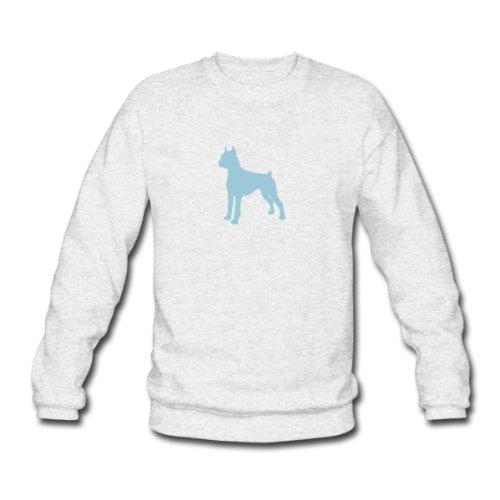 Spreadshirt, Deutscher Boxer - Hund, Men's Sweatshirt, salt & pepper, M