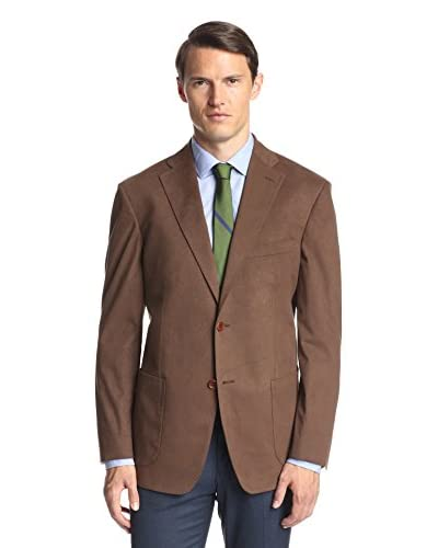 Ike Behar Men's Solid Ultrasuede Sportcoat