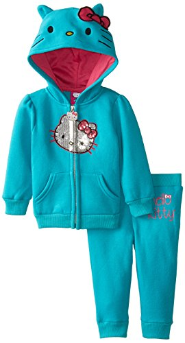 Hello Kitty Baby Girls' 2pc Hoodie and Pant Set, Julep, 6-9 Months
