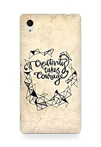 AMEZ creativity takes courage Back Cover For Sony Xperia M4