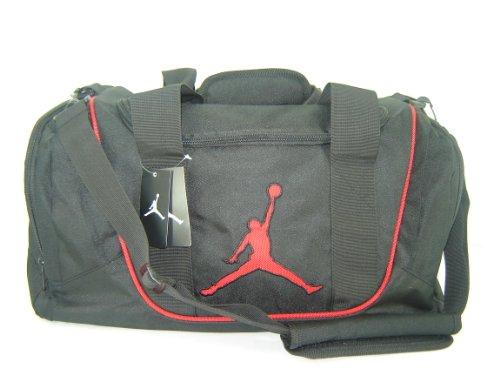 Nike Air Jordan Duffel Gym Bag Black Red