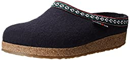 Haflinger GZ Clog,Navy,42 EU/Women\'s 11 M US/Men\'s 9 M US