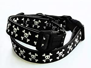 Paul Frank Dog Collar, Signature Skurvy, Black/White, Small