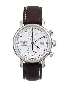 Zeppelin Watches Men's Quartz Watch 7578-1 7578-1 with Leather Strap