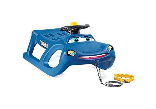 Extra Massiver Schlitten Kinderschlitten Racer Kunststoff Bob mit Zugseil und Lenkung