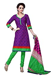 HIFI Ethnicwear Women's Dress Material(HIFI 3216_Purple_Free_Size)