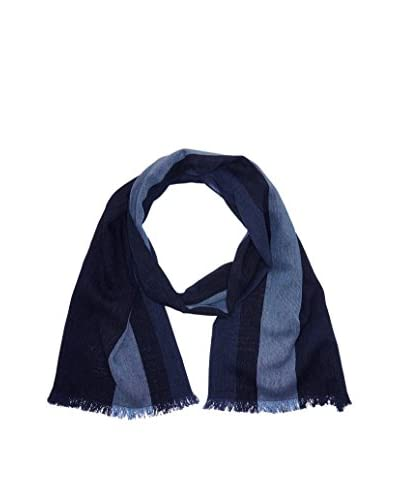 Men's Heritage Fular Blue Striped Scarf Azul