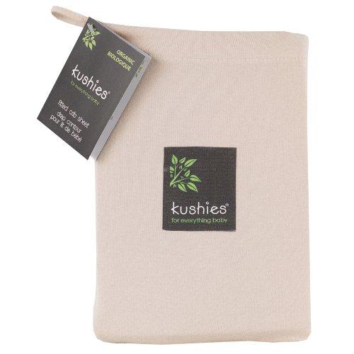 Kushies Organic Jersey Crib Fitted Sheet, Mocha