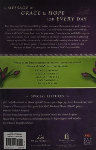 NKJV, the Women of Faith Devotional Bible: A Message of Grace & Hope for Every Day (Bible Nkjv)