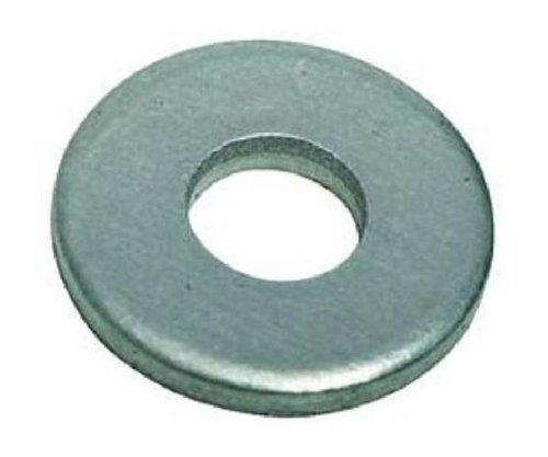 Steel Flat Washer, Plain Finish, ASME B18.22.1, 1/4″ Screw Size, 9/32″ ID, 5/8″ OD, 0.065″ Thick (Pack of 100)