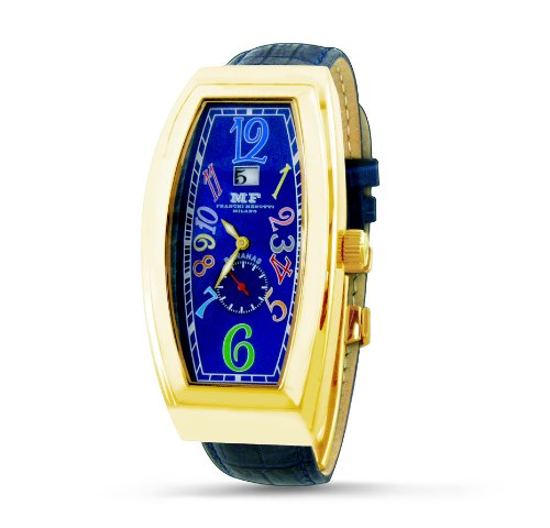 Franchi Menotti Men's 4002 Banana Collection Blue with Numbers Dial Watch
