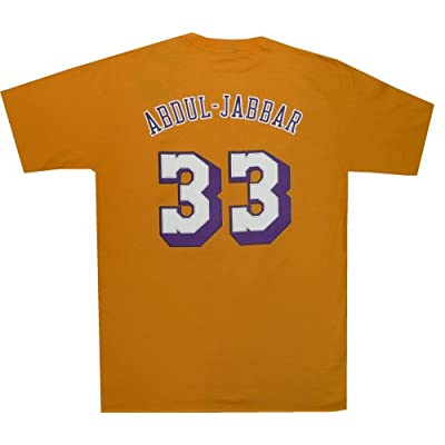 Amazon.com : Los Angeles Lakers Kareem Abdul Jabbar Throwback T Shirt