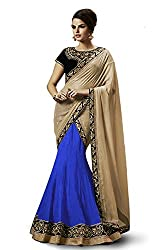 Lehenga Choli Royal Blue Color Free Size Circular Style Fully Stitched Womens Net lehenga choli